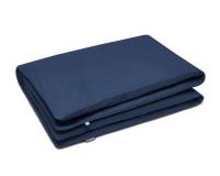 Baumwoll Kinderbettbezüge in blau uni Farbe