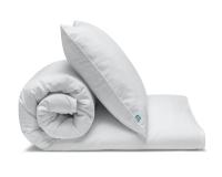weiße Baumwoll-Kinderbettwäsche in Uni Farben