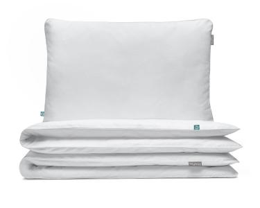 Kinderbettwäsche weiß uni aus hochwertiger Baumwolle