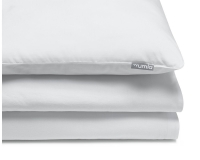 Schöne Kinderbettwäsche in uni weiß aus zertifizierter Baumwolle
