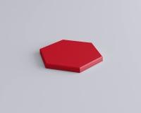 Weiches 3D Wandpaneel Hexa edge in Hexagon Form und abgeschrägten Kanten von fluffo