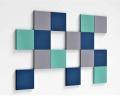 3D Wand aus weichen Quadrat 3D Paneelen Pixel edge