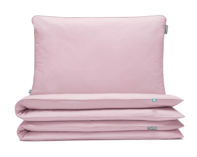 Bettwäsche rosa uni aus hochwertiger Baumwolle