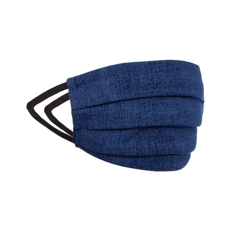 Behelfs- Mund- und Nasenmaske Color Demin Blau - Waschbar