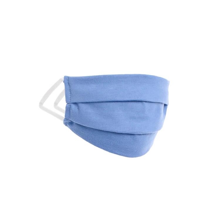 Kinder Behelfs- Mund- und Nasenmaske Color Kids Hellblau - Waschbar