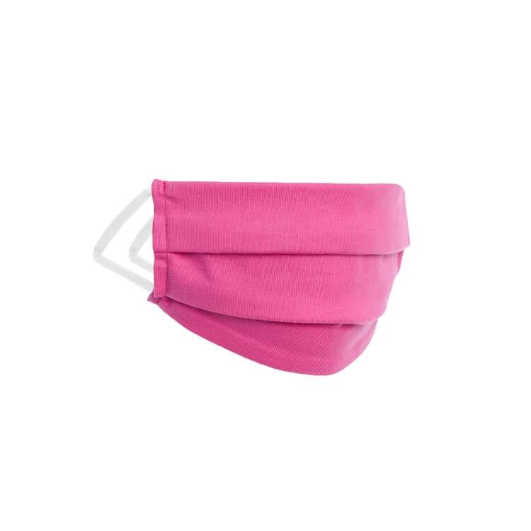 Kinder Behelfs- Mund- und Nasenmaske Color Kids Fuchsia Magenta Pink - Waschbar