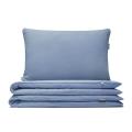 Hochwertige Bettwäsche in hellblau von Mumla. Reine Baumwolle in blau
