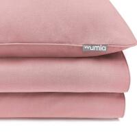 Mumla Bettwäsche altrosa Uni. Hochwertige Bettwäsche aus reiner Baumwolle