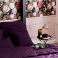 Elegante Bettwäsche in lila Aubergine aus reiner Baumwolle von Mumla