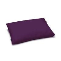Mumla Kissenbezug in lila Aubergine. Nachhaltige Baumwolle