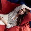 Moderne Bettwäsche in Ziegelrot aus reiner Baumwolle von Mumla