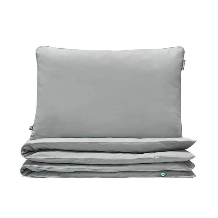 Hochwertige Bettwäsche grau von Mumla. Reine Baumwolle