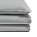 Mumla Bettwäsche in grau Unifarbe aus reiner Baumwolle