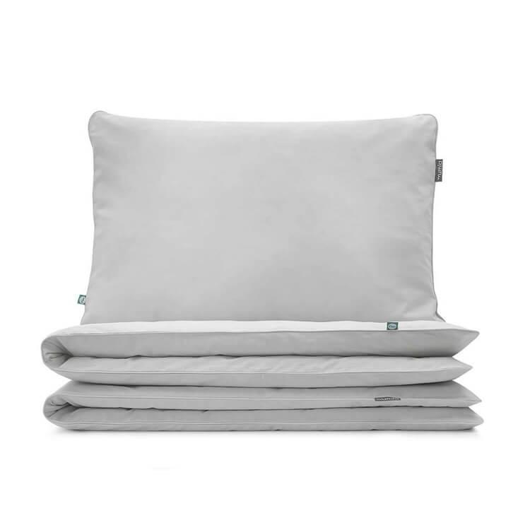 Hochwertige Bettwäsche hellgrau von Mumla. Reine Baumwolle