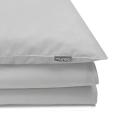 Mumla Bettwäsche hellgrau aus reiner Baumwolle