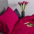 Moderne Bettwäsche Pink Himbeerrot aus reiner Baumwolle von Mumla