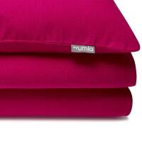 Mumla Bettwäsche Pink Himbeerrot Unifarbe. Reine Baumwolle
