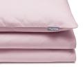 Schöne Kinderbettwäsche in uni rosa aus zertifizierter Baumwolle