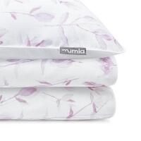 Mumla Baumwoll-Bettwäsche Rosa Lichtung Blumen