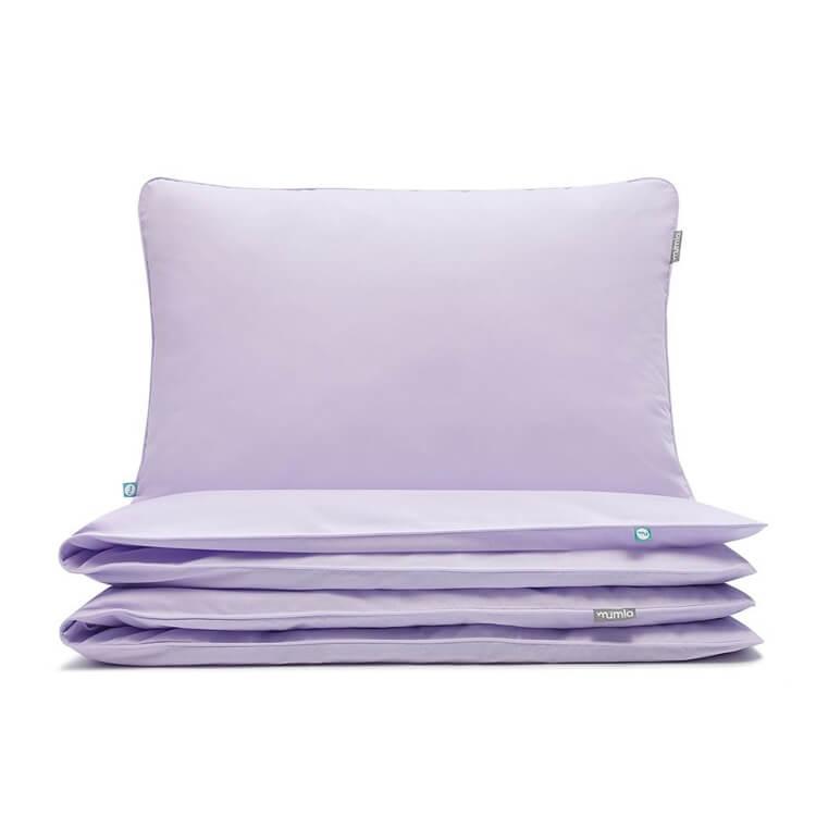 Mumla Bettwäsche Basic Lavendel reine Baumwolle