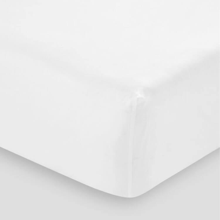 HOP Design Spannbettlaken Pure Premium weiß Baumwollsatin