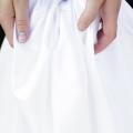 Spannbettlaken Baumwollsatin weiß HOP Design PURE Premium