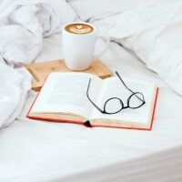 Bettlaken ohne Gummizug aus reiner Baumwolle HOP Design Canvas