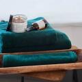 Baumwoll Handtücher Dunkelgrün Frottee Mumla