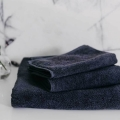 Baumwoll Handtücher Dunkelgrau Frottee von Mumla