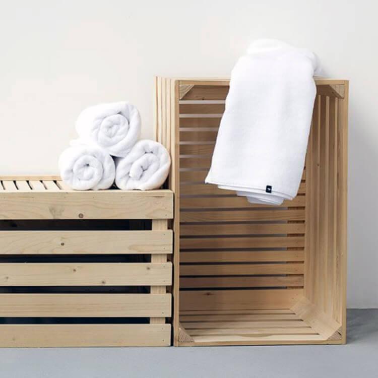 HOP Design Handtuch Weiß Frottee