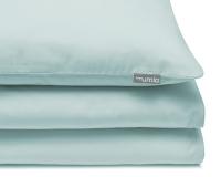 Schöne Kinderbettwäsche in uni mint aus zertifizierter Baumwolle