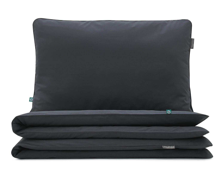 Bettwäsche Dunkelgrau Uni Farbe Hochwertige Baumwolle