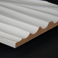 3D Wand 001 aus gefrästem MDF Holz, weiß grundiert