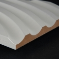 3D Wand 003 aus gefrästem MDF Holz, weiß grundiert