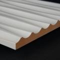 3D Wand 006 aus gefrästem MDF Holz, weiß grundiert