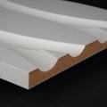3D Wand 008 aus gefrästem MDF Holz, weiß grundiert