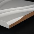 3D Wand 012 aus gefrästem MDF Holz, weiß grundiert