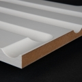3D Wand 013 aus gefrästem MDF Holz, weiß grundiert