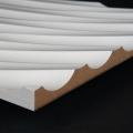 3D Wand 014 aus gefrästem MDF Holz, weiß grundiert