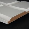 3D Wand 017 aus gefrästem MDF Holz, weiß grundiert