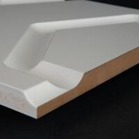 3D Wand 019 aus gefrästem MDF Holz, weiß grundiert