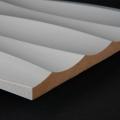 3D Wand 020 aus gefrästem MDF Holz, weiß grundiert
