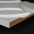 3D Wand 022 aus gefrästem MDF Holz, weiß grundiert