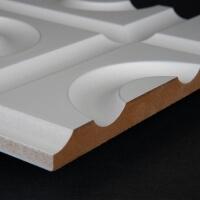 3D Wand 026 aus gefrästem MDF Holz, weiß grundiert