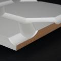 3D Wand 027 aus gefrästem MDF Holz, weiß grundiert