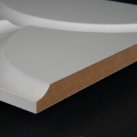3D Wand 029 aus gefrästem MDF Holz, weiß grundiert