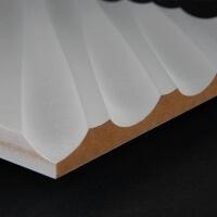 3D Wand 031 aus gefrästem MDF Holz, weiß grundiert