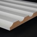 3D Wand 033 aus gefrästem MDF Holz, weiß grundiert