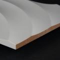 3D Wand 038 aus gefrästem MDF Holz, weiß grundiert