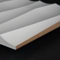 3D Wand 041 aus gefrästem MDF Holz, weiß grundiert